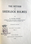 Conan Doyle - Works (Collection Tauchnitz) - 1891/1913