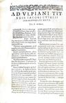 Umanesimo giuridico: Jacobus Cuiacius - Commentarii in iuris iustinianaei libros elementares - 1610