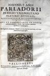 Juan Yanez Parladorio - Rerum quotidianarum - 1628