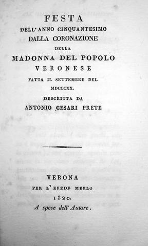 Cesari - Festa Madonna del popolo veronese