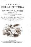 Leonardo da Vinci - Trattato della pittura - Bologna 1786 (con numerose belle tavole incise in rame)