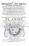Ludovico Maria Sinistrari - Opera (Practica criminalis, Formularium criminale, De delictis) - 1753