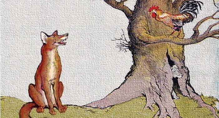 Esopo - Il cane, il gallo e la volpe