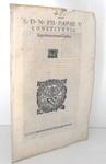 Costituzione di Pio V che disciplina i contratti di censo - Roma, Blado 1568