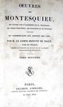 Un simbolo dell'Illuminismo: Montesquieu - Opera omnia - Paris 1822