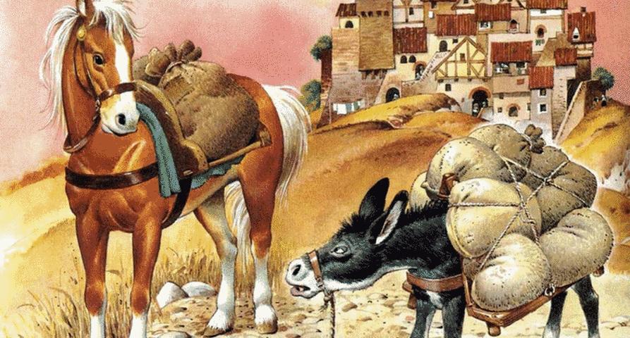Esopo - Il cavallo e l'asino