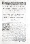 Francesco Sansovino - Del governo et amministratione di diversi regni et repubbliche - 1607
