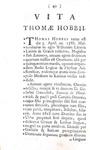 L'origine del Leviatano: Thomas Hobbes - Elementa philosophica de cive - Lausannae 1760