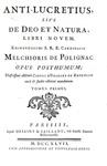 Polignac - Anti-Lucretius, sive de deo et natura - 1747 (prima edizione - con numerose incisioni)