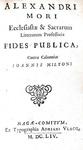 John Milton - Pro populo anglicano defensio  (e altre 3 opere) - London 1652/54