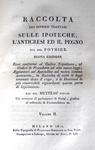 Pothier - Raccolta dei diversi trattati sulle ipoteche