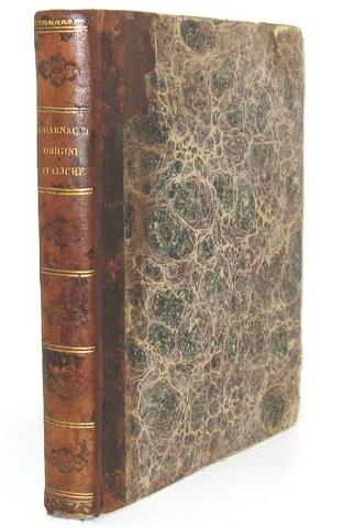 Mario Guarnacci - Delle origini italiche - Venezia, Bassaglia 1773 (prima edizione)