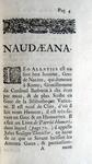 Gabriel Naudé - Guy Patin - Naudaeana et patiniana ou singularitez remarquables - 1703