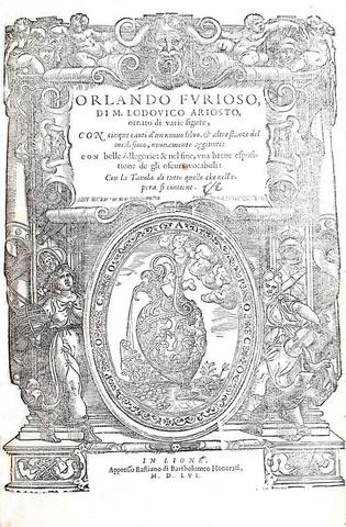 Ludovico Ariosto - Orlando furioso - Lyon 1556 (51 bellissime incisioni - prima edizione francese)