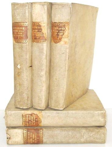 Pietro Giannone - Istoria civile del regno di Napoli & Opere postume - 1753/55