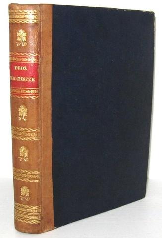 Joseph Droz - Economia politica o Scienza delle ricchezze - Palermo 1853 (prima edizione italiana)