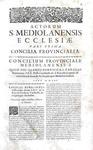 Costituzioni e decreti della chiesa milanese: Carlo Borromeo - Acta ecclesiae Mediolanensis - 1682