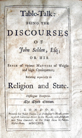 John Selden - Table talk - 1716