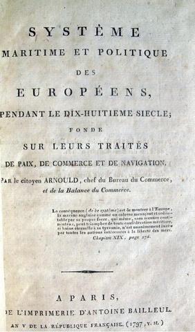 Ambroise Maire Arnould - Système maritime - 1797