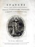 Statuti della Santissima Trinità de pellegrini di Roma - 1821