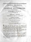 Melchiorre Gioia - Nuovo prospetto delle scienze economiche - Milano 1815 (rara prima edizione)