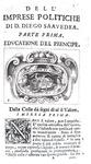Diego de Saavedra Fajardo - Idea del principe politico - Venezia 1678 (con 100 bellissimi emblemi)