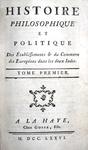 Raynal - Histoire du commerce dans les deux Indes - 1776