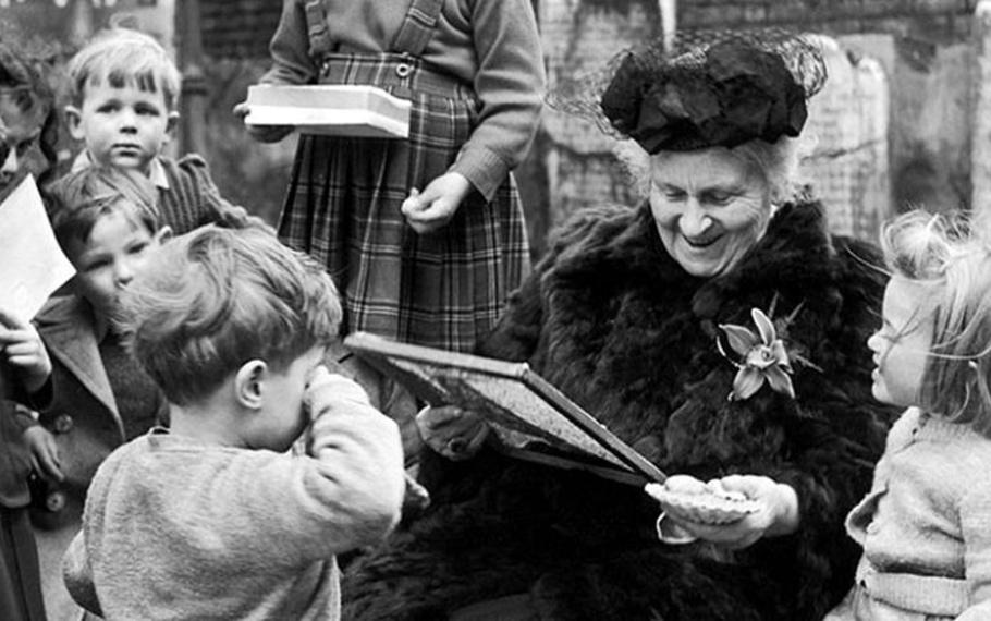 Maria Montessori - Il bene o il male dell'uomo è strettamente legato alla vita infantile