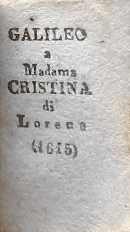 Il libro antico più piccolo del mondo: Galileo a madame Cristina di Lorena - 1896
