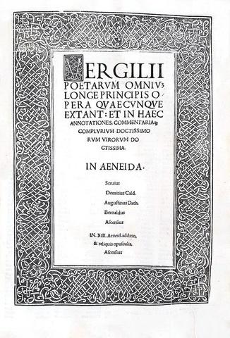 Una magnifica e rara edizione di inizio Cinquecento: Virgilio - Opera omnia - Venezia, Paganini 1515