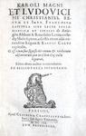 I capitolari di Carlo Magno: Karoli Magni et Ludovici Pii Francorum capitula - Paris 1603