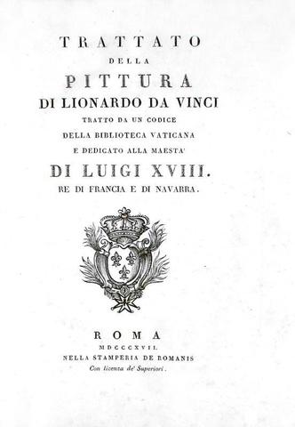 Leonardo da Vinci - Trattato della pittura tratto da un codice inedito - Roma 1817 (con 23 tavole)