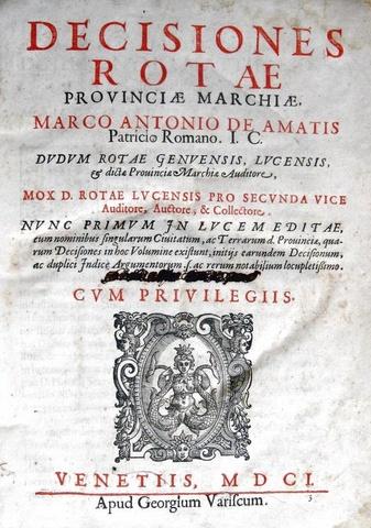 Decisiones rotae provinciae Marchiae