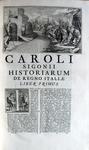 Carlo Sigonio - Opera omnia - 1732-37