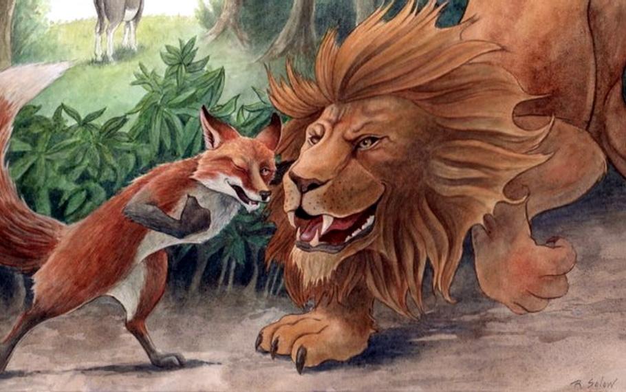 Esopo - Il leone e la volpe