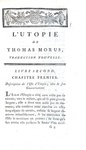 Thomas More - Du meilleur gouvernement possible ou la nouvelle isle d'Utopie - A Paris 1789