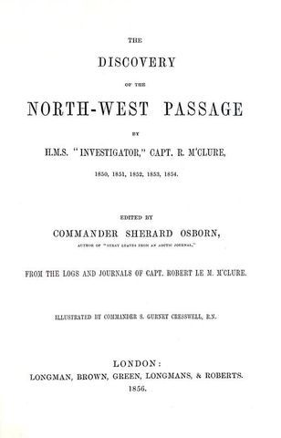 La scoperta del Passaggio a Nord-Ovest: McClure - The discovery of the North-West Passage - 1856