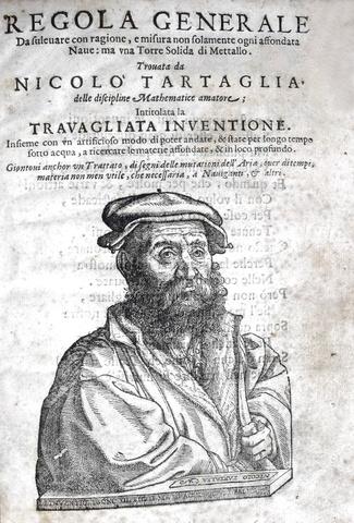 Tartaglia - Regola generale da solevare ogni affondata nave - 1551