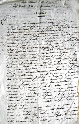 Avviso dei liberali agli abitanti di Ancona e Forlì (1832)