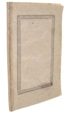 La prima opera a stampa di Silvio Pellico: Francesca da Rimini - Novara 1818 (rara prima edizione)
