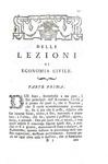 Antonio Genovesi - Lezioni di commercio o sia d?economia civile - Bassano, Remondini 1788