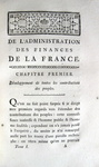 Jacques Necker - Administration des finances de la France - 1784