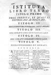 Diritto giustinieneo: Giambattista De Luca - Istituta civile divisa in quattro libri - 1743
