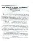 Melchiorre Gioja - Del merito e delle ricompense. Trattato storico e filosofico - Lugano 1832