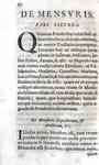 Pesi e misure nell'antica Roma: Bartolomeo Beverini - Syntagma de ponderibus et mensuris - 1714