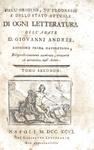 Giovanni Andres - Dell'origine e dei progressi di ogni letteratura - 1796