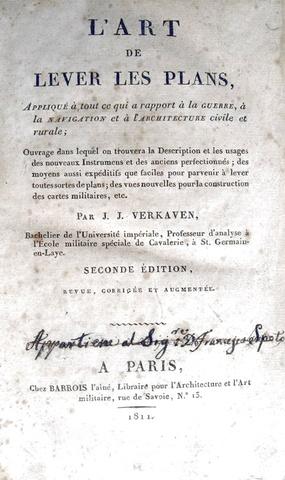 Verkaven - Art de lever les plans - 1811