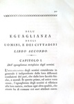 Ayala - Della libertà e della eguaglianza degli uomini - 1793 (rara prima traduzione italiana)