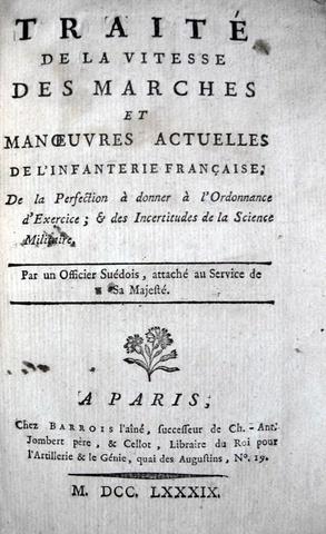 Schultz von Ascheraden - Traite de la vitesse de l'infanterie francaise - 1789