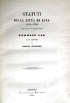 Statuti della città di Riva